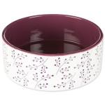 Miska TRIXIE keramická bílo-vínová 20 cm (1ks) - VÝPRODEJ